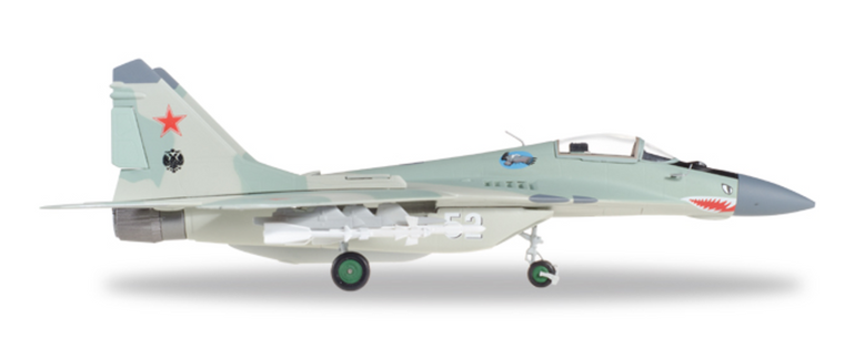 Herpa Russian Air Force Mikoyan MiG-29 (9-12) Fulcrum-A - 120th GvlAP (Guards Fighter Aviation Regiment), Domna Air Base - 52 white 1/72 580236