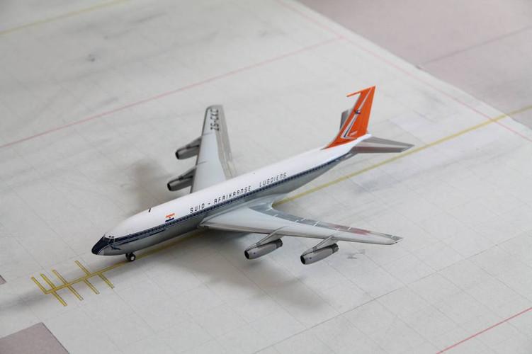 """Herpa  South African Airways Boeing 707-320 - ZS-CKC """"Johannesburg"""" 1/200 558693"""