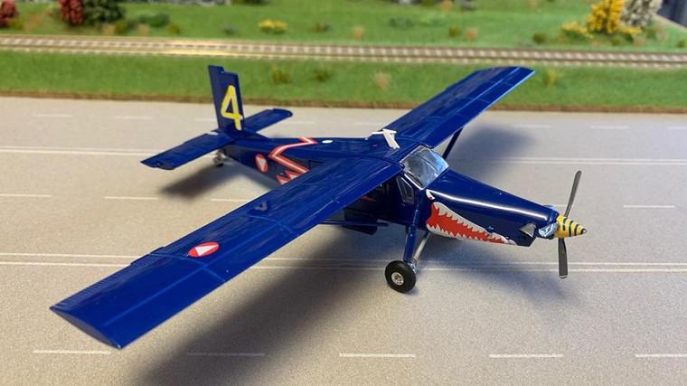 "Herpa Austrian Air Force Pilatus PC-6 Turbo Porter - 4th area stagger , ""Blue Elise"" - 3G-EK 1/72 580274"