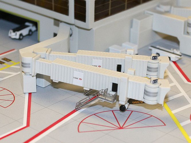 Gemini Jets Air Bridge Set 2 (3 Double Wide Body) 1/400