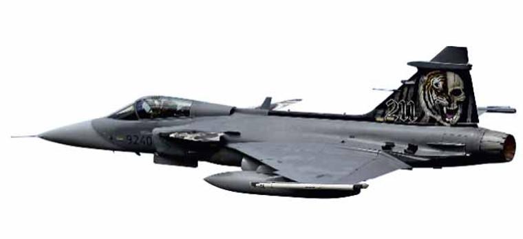 "Herpa Czech Air Force Saab JAS-39C Gripen - NATO Tiger Meet 2014, Schleswig-Jagel, Germany ""Skull"" - 9240 1/72 82MLCZ7208"