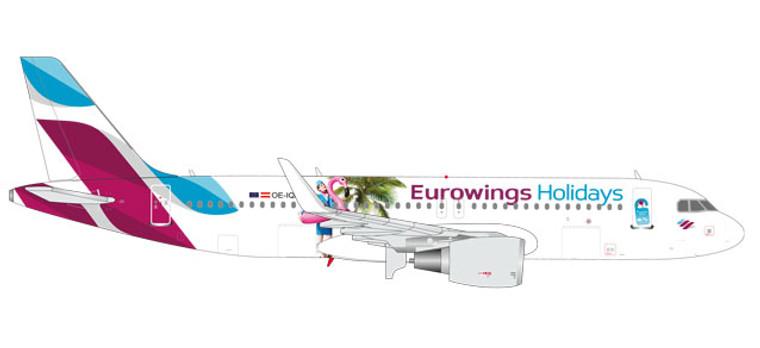 """Herpa Eurowings Europe Airbus A320 """"Eurowings Holidays"""" 1/400 562676"""