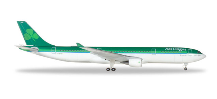 """Herpa Aer Lingus Airbus A330-300 - EI-FNH """"Laurence O 'Toole / Lorcan """"Tuathail"""" 1/500 531818"""