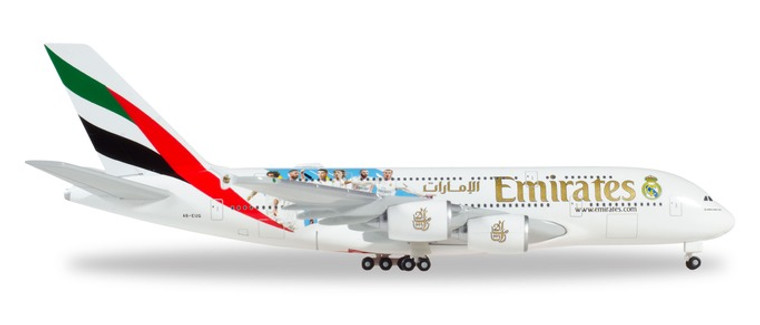 "Herpa Emirates Airbus A380 ""Real Madrid (2018)"" 1/500 531931"