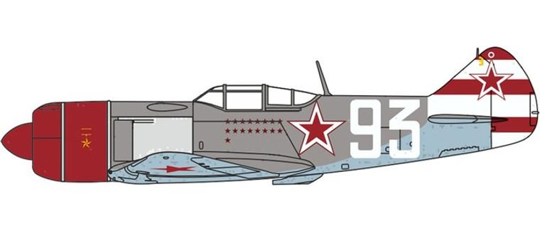 Herpa Lavochkin LA7 Sergei Federovich Dolgushin, 156 Fighter Regiment 1945 1/72 81AC089