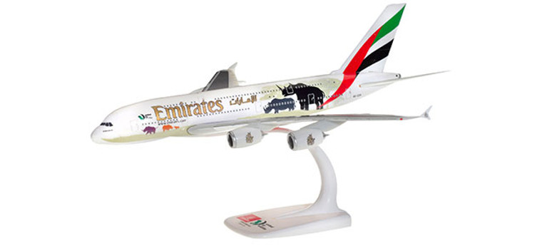 """Herpa Emirates Airbus A380 """"United for Wildlife"""" (No.2) 1/250 612180"""