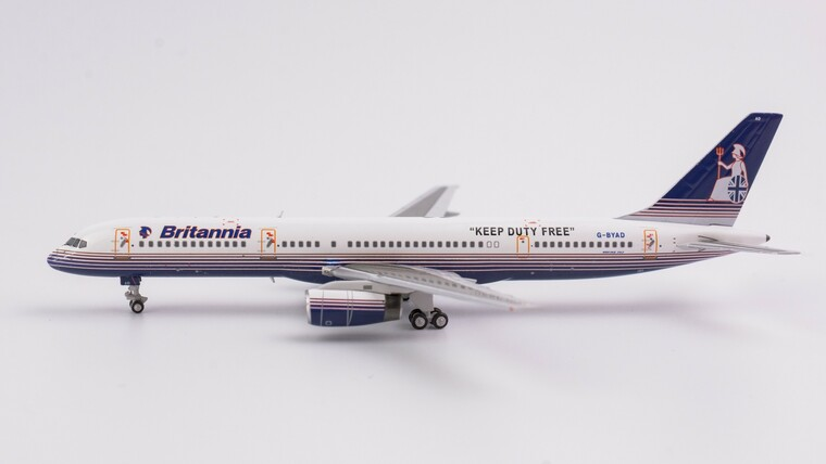 "NG Models Britannia Airways Boeing 757-200 G-BYAD ""KEEP DUTY FREE"" 1/400"