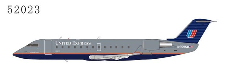 "NG Models United Express CRJ-200LR N959SW ""Battleship"" 1/200"
