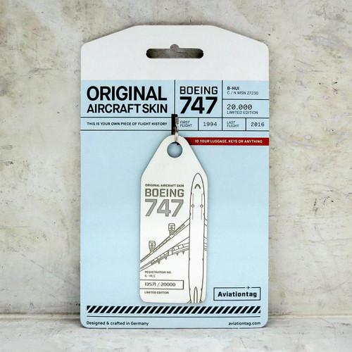 Aviationtag Boeing B747 - White (Cathay Pacific) B-HUI