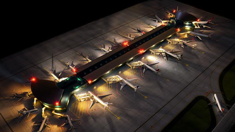 GeminiJets Deluxe Airport Terminal (New) 1/400 GJARPTC