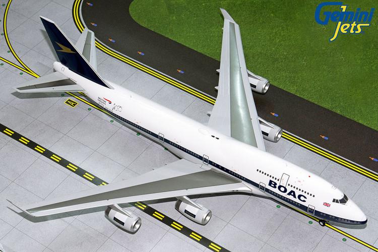 GeminiJets British Airways Boeing 747-400 (BOAC Retro Livery) G-BYGC 1/200 G2BAW834