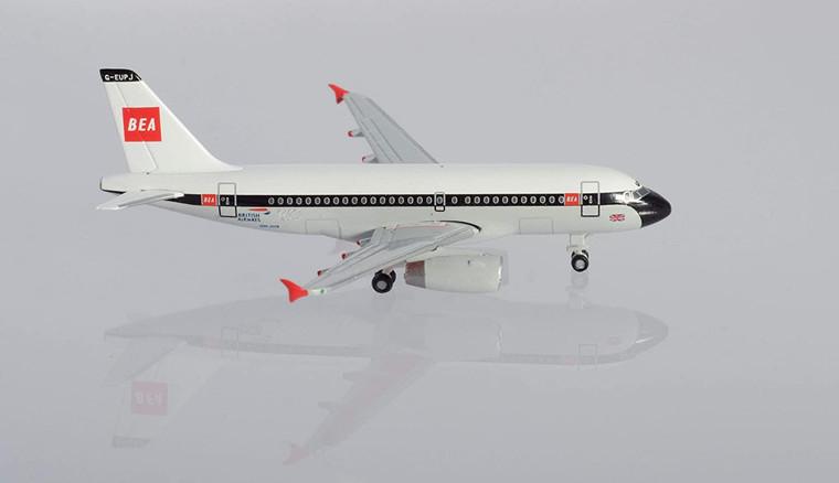 """Herpa British Airways Airbus A319 """"100th"""" BEA design G-EUPJ 1/500 533492"""