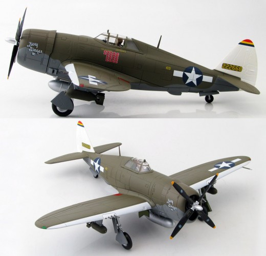 """HobbyMaster P-47D Razorback Col Neel Kearby """"Fiery Ginger IV"""" 348th FG 1/48 HM8452"""