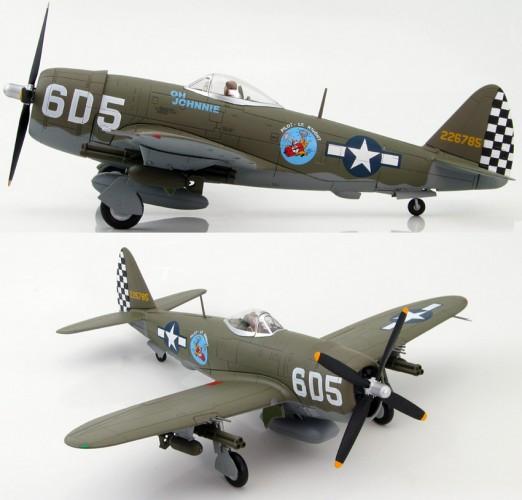 """HobbyMaster P-47D Thunderbolt """"OH JOHNNIE"""" Lt. R.Knight 1/48 HA8408"""