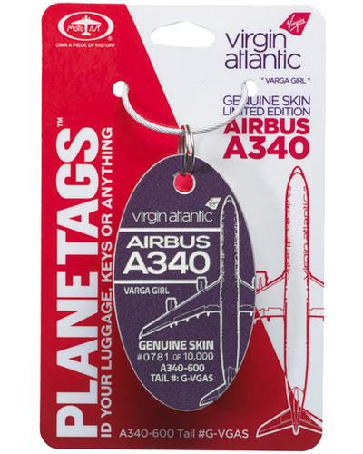 Virgin Atlantic 'Varga Girl' G-VGAS A340 PlaneTag (Purple)