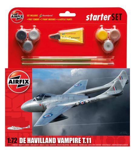Airfix De Havilland Vampire T11 Starter Set 1/72 A55204