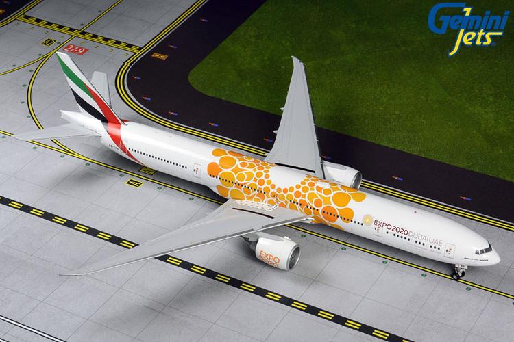 GeminiJets Emirates Boeing 777-300ER A6-EPO Orange Expo 2020 1/200 G2UAE800