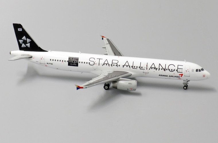 JC Wings Asiana Airlines Airbus A321 'Star Alliance 15 Years' HL7730 1/400 XX4071