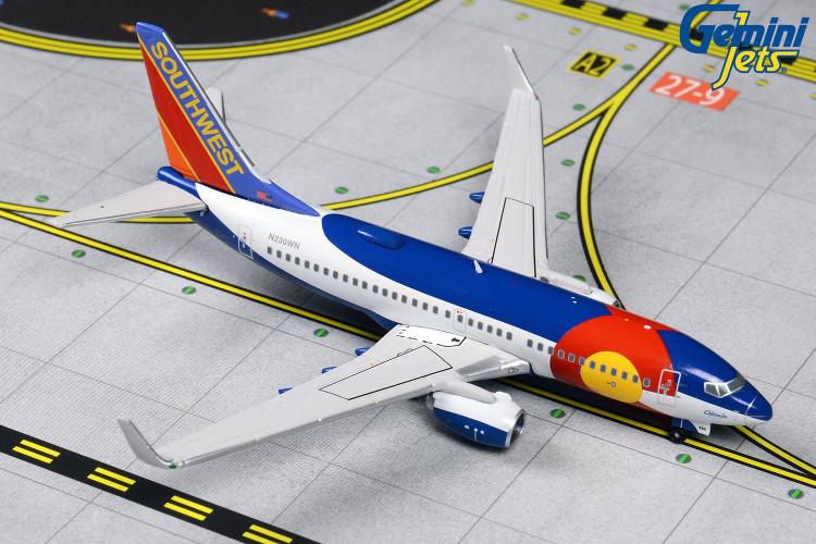 """GeminiJets Southwest Boeing 737-700W N230WN """"Colorado One"""" 1/400 GJSWA1412"""