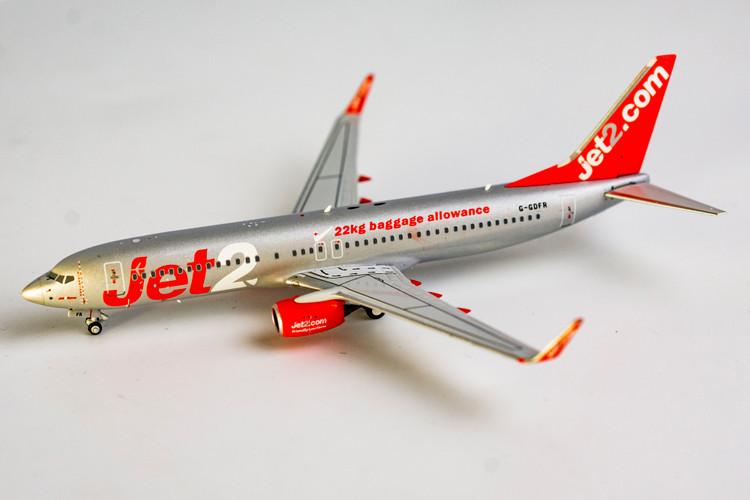 "NG Models Jet2 Boeing 737-800/w G-GDFR ""22kg baggage allowance"" 1/400 NG58036"