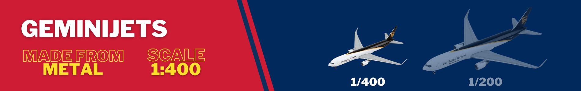 Gemini Jets in 1/400 scale