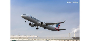 Herpa Snap Wings 1:200 Airbus A 321neo American Airlines 613019
