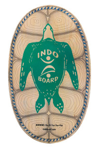 "SEA TURTLE  The INDO BOARD Sea Turtle Design features our 30"" X 18"" Original deck model.  INDO BOARD Original decks are our most popular models, providing both fun and effective balance training for anyone ages 3 to 93.    - Deck dimensions: 30"" X 18"" - Deck construction:  11/16"" cabinet-grade, Baltic Birch plywood - Also comes as a bundled option with Deck, Roller and INDO Flo Cushion"