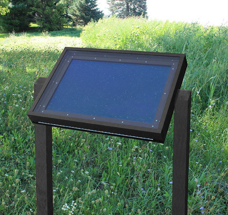 Polly Products Specialty Viewing Message Center - 4Ft Post