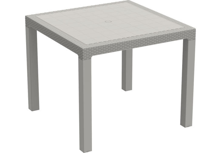Duramax Rattan 4-Seater Table Grey