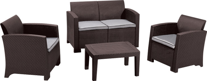 Duramax Cedarrattan Sofa Set-Medium Brown
