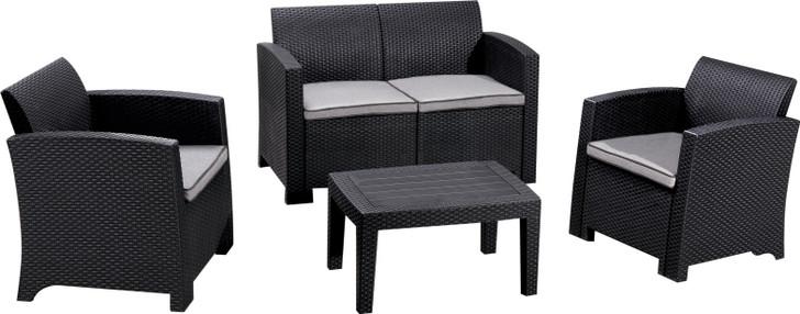 Duramax Cedarrattan Sofa Set-Medium Black