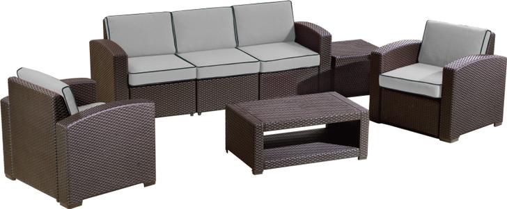 Duramax Cedarrattan Large Sofa Set Brown