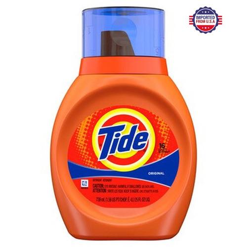 Tide Liquid Laundry Detergent, Original Scent, 739 ml