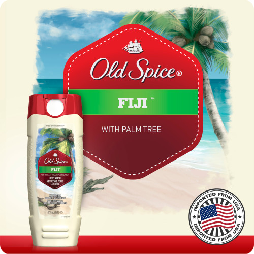 Old Spice Fresher Fiji Scent Body Wash for Men 473 ml