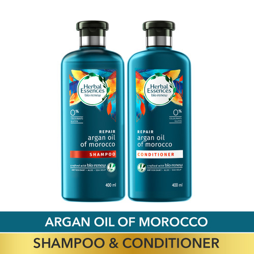 Herbal Essences Bio:Renew Argan Oil of Morocco Shampoo and Conditioner Combo Box, 400 ml + 400 ml
