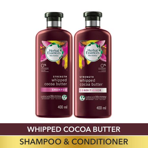 Herbal Essences Bio:Renew Vitamin E with Cocoa Butter Shampoo and Conditioner Combo Box, 400 ml + 400 ml |No Parabens, No Colourants