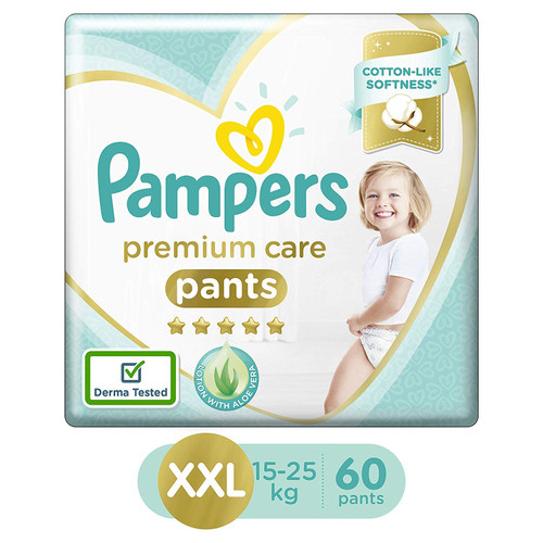 Pampers Premium Care Pants Diapers, XX-Large (60 Count)
