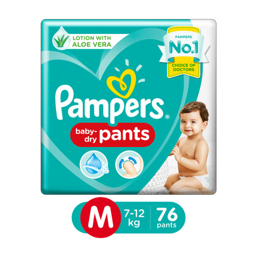 Pampers New Diapers Pants, Medium - 76 Count