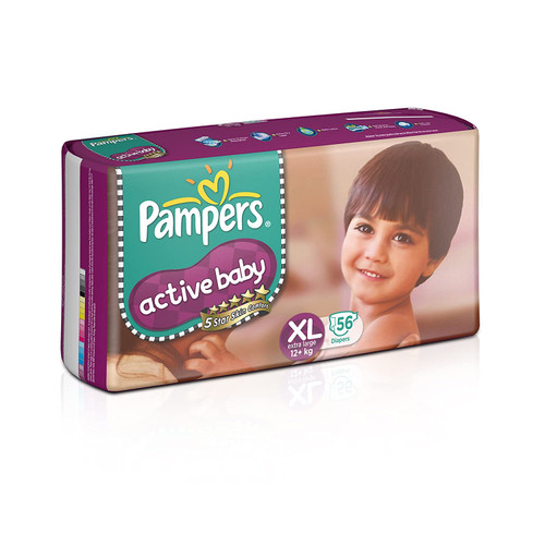 Active Baby Diapers, XL - 56 Count - Pampers