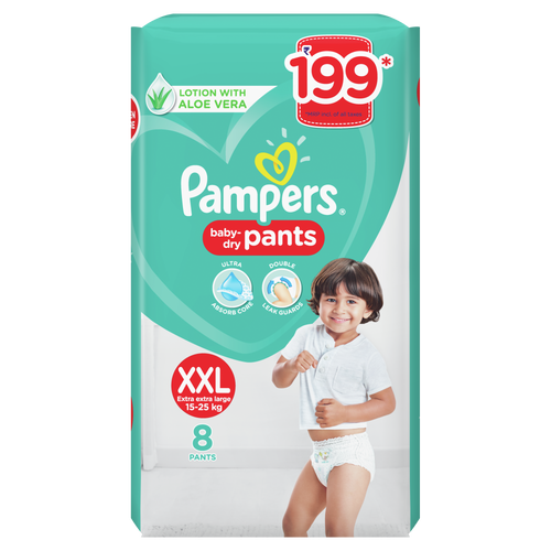 Pampers New Diaper Pants, XXL - 8 Count