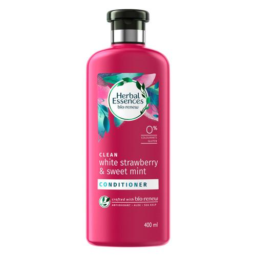 Herbal Essences Bio:Renew White Strawberry & Sweet Mint Conditioner_400Ml | No Parabens No Colourants