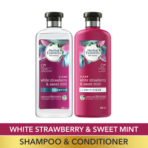 Herbal Essences Bio:Renew White Strawberry & Sweet Mint Shampoo and Conditioner Combo Box_400 ml + 400 ml