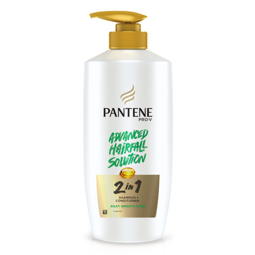 Pantene 2 in 1 Silky Smooth Care Shampoo + Conditioner, 650 ml