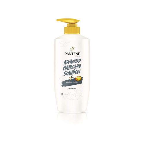 Pantene Advanced Hair Care Solution Shampoo - Lively Clean, 650 ml Bottle