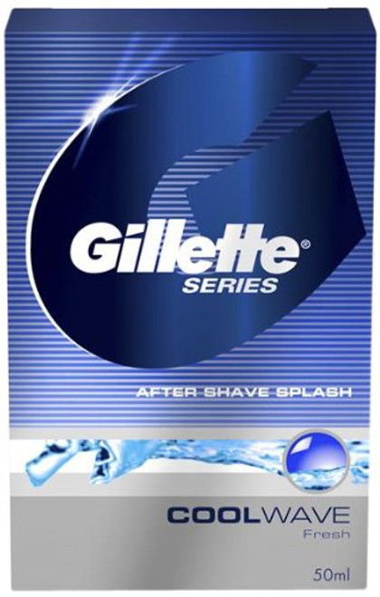 Gillette Series After Shave Splash - Cool Wave 50 ml Carton