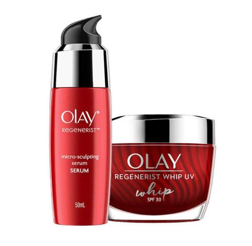 Olay Regenerist Summer Skincare With Spf  30 For Collagen Boost(Moisturizer + Serum) 50 ML + 50 ML