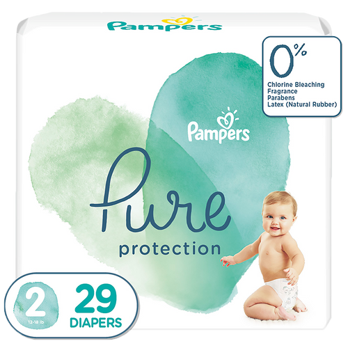 Pampers Pure Protection baby diapers, Small size taped diapers, SM 29 Count