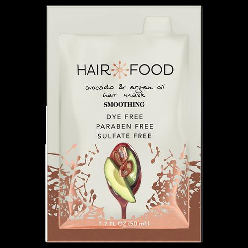 Hair Food,Hair Mask, Smoothing Argan Oil and Avocado, 50ml