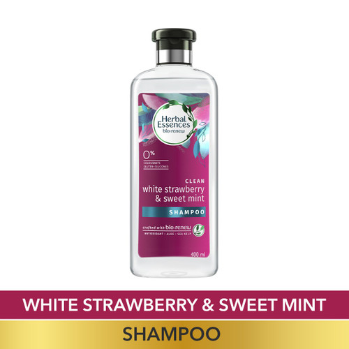 Herbal Essences White Strawberry & Sweet Mint SHAMPOO, For Cleansing and Volume - No Paraben, No Colorants, 400 ML