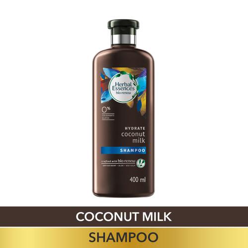 Herbal Essences Coconut Milk SHAMPOO, For Hydration- No Paraben, No Colorants, No Gluten , 400 ML